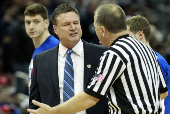 University of Kansas men's basketball coach Bill Self, 56, owns a 473-106 record in 16 seasons at the school. He won a national title in 2008. The Jayhawks have been to the Final Four three times under Self. File Photo by John Sommers II/UPI