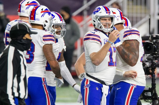 Buffalo Bills quarterback Josh Allen (17) was 23 of 37 passing for 206 yards and a touchdown against the Baltimore Ravens. File Photo by Matthew Healey/UPI