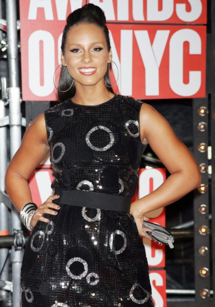 Alicia Keys at the MTV Video Music Awards in New York, Sept. 13, 2009. UPI/Laura Cavanaugh