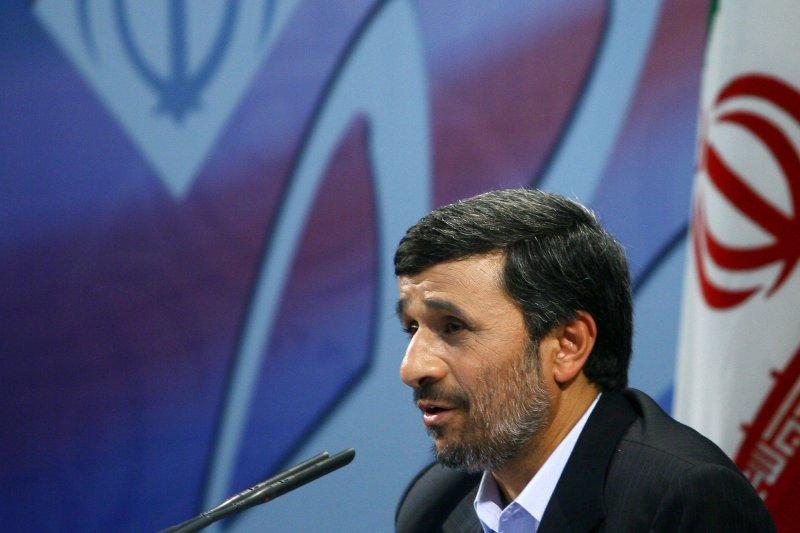 Iranian President Mahmoud Ahmadinejad speaks during his press conference in Tehran,Iran on Monday, November 29,2010. The Iranian leader said that Iran's uranium enrichment program is not negotiable. UPI/Maryam Rahmanian