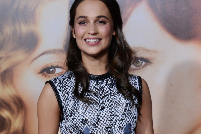 Cast member Alicia Vikander of Sweden at the premiere of The Danish Girl at the Regency Village Theatre in Los Angeles on Nov. 21, 2015. File Photo by Jim Ruymen/UPI