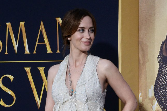 Cast member Emily Blunt attends the premiere of The Huntsman: Winter's War in Los Angeles on April 11, 2016. The actress will star in Mary Poppins Returns. File Photo by Jim Ruymen/UPI
