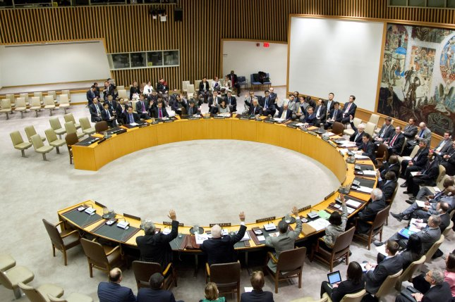 Russia, a United Nations Security Council member, is carrying out its North Korea sanctions obligations under U.N. Resolution 2321, according to its report to the U.N. UPI File Photo