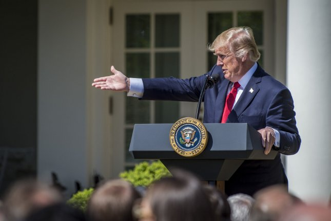 President Donald Trump on Tuesday suggested via Twitter ending the Senate filibuster by letting all legislation pass with a majority vote of 51. File Photo by Pete Marovich/UPI