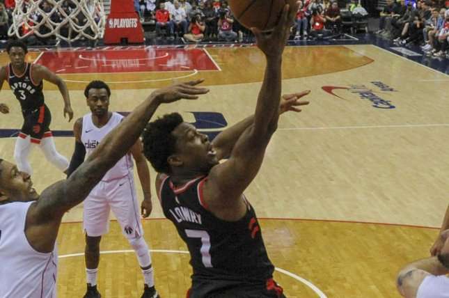 Kyle Lowry and the Toronto Raptors square off with the Brooklyn Nets on Friday night. Photo by Mark Goldman/UPI
