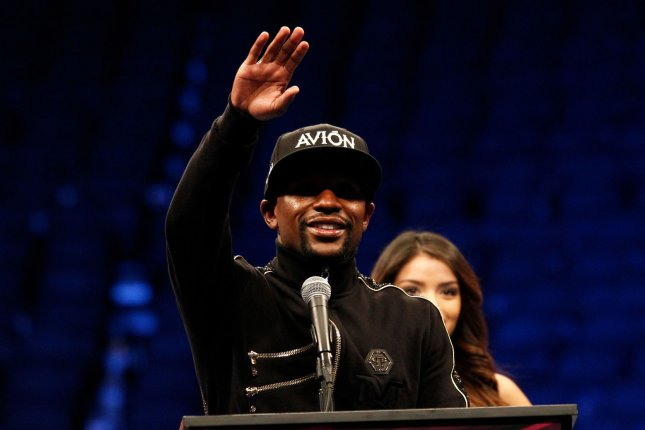 Floyd Mayweather Jr. (50-0) beat Manny Pacquiao (61-7-2) in a mega-bout on May 2, 2015. He has since beat Andre Berto and UFC star Conor McGregor, but hasn't fought since beating The Notorious on Aug. 26, 2017. File photo by James Atoa/UPI