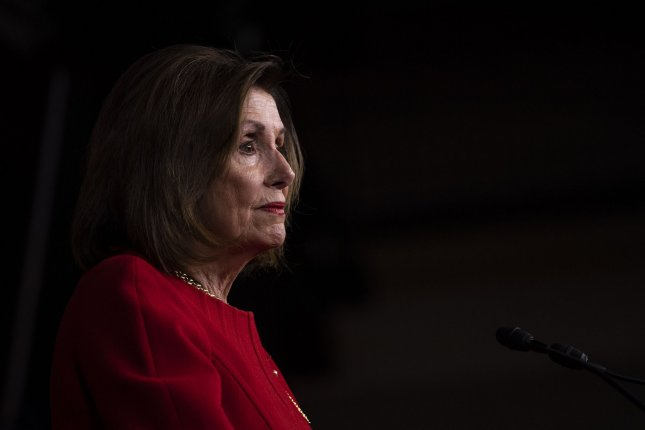 House Speaker Nancy Pelosi, D-Calif., said Sunday the House will vote on a War Powers Resolution to limit the president's military actions against Iran. Photo by Kevin Dietsch/UPI