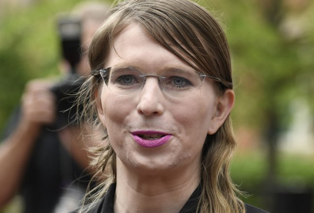 Former U.S. Army intelligence analyst Chelsea Manning was hospitalized on Wednesday night after attempting to take her own life while jailed for refusing to comply with a grand jury subpoena about an investigation into WikiLeaks. Photo by Mike Theiler/UPI.