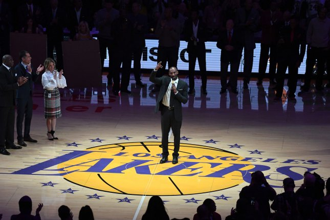 Los Angeles Lakers great Kobe Bryant (pictured) and his daughter, Gianna, were among nine killed in a January helicopter crash. File Photo by Jon SooHoo/UPI