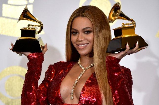 Beyoncé made history at the Grammys after winning multiple awards on Sunday, giving her a leading 28 wins over the course of her career. File Photo by Christine Chew/UPI