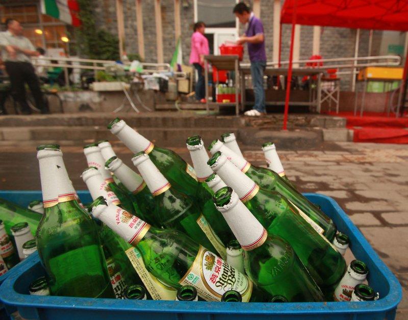 N.Dakota, New Hampshire, Montana, S. Dakota, Wisconsin drink most beer. UPI/Stephen Shaver