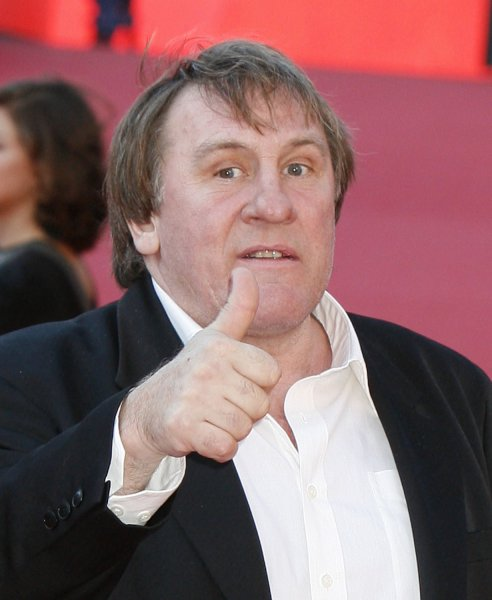 Actor Gerard Depardieu arrives at the Rome Film Festival in Rome on October 21, 2007. Depardieu is in Rome with his film LÕabbuffata. (UPI Photo/David Silpa)