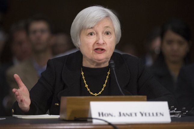 Janet Yellen testifies to Senate at her confirmation hearing, asserting that the Federal Reserve stimulus will continue until the economy further rebounds. (File/UPI/Kevin Dietsch)