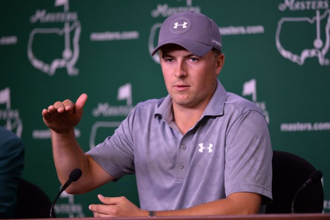 Jordan Spieth speaks to the media during a press conference before the 2016 Masters Tournament at Augusta National in Augusta, Georgia on April 5, 2016. Photo by Kevin Dietsch