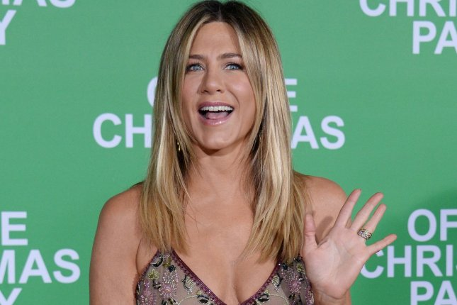 Cast member Jennifer Aniston attends the premiere of the motion picture comedy Office Christmas Party in Los Angeles on December 7, 2016. The actress is to be a presenter at Sunday's Oscars. File Photo by Jim Ruymen/UPI
