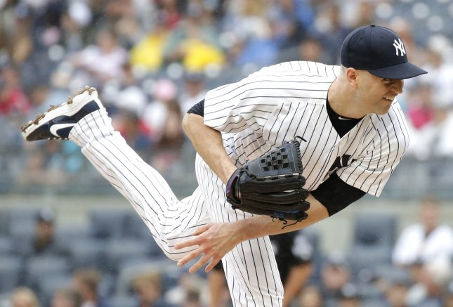 J.A. Happ and the New York Yankees take on the Oakland A's on Tuesday. Photo by John Angelillo/UPI