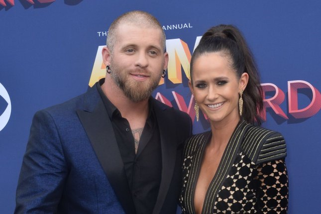 Brantley Gilbert (L) and Amber Gilbert are expecting a daughter in September. File Photo by Jim Ruymen/UPI
