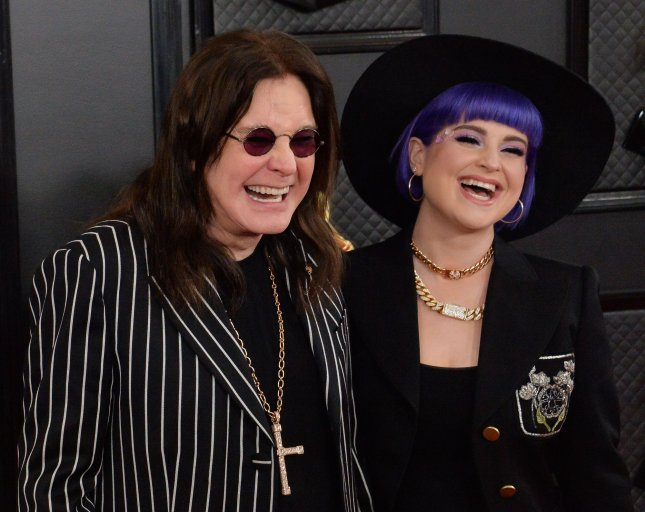 Ozzy Osbourne (L) and Kelly Osbourne attend the Grammy Awards on Sunday. Photo by Jim Ruymen/UPI