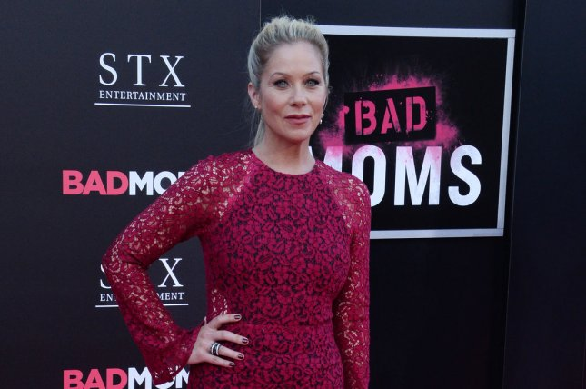 Christina Applegate attends the premiere of Bad Moms on July 26, 2016. In a new interview, Applegate unveils how she has had her ovaries and fallopian tubes removed. File Photo by Jim Ruymen/UPI