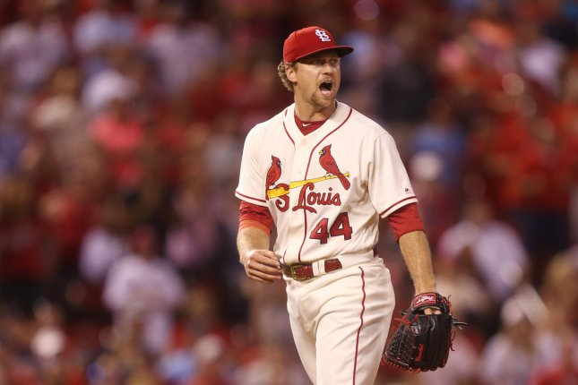 Former St. Louis Cardinals pitcher Trevor Rosenthal signed a one-year deal with the Washington Nationals this off-season. File Photo by Bill Greenblatt/UPI