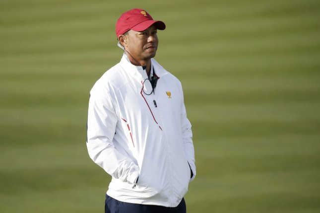Golf star Tiger Woods will be the first playing captain at the Presidents Cup since 1994. File Photo by John Angelillo/UPI