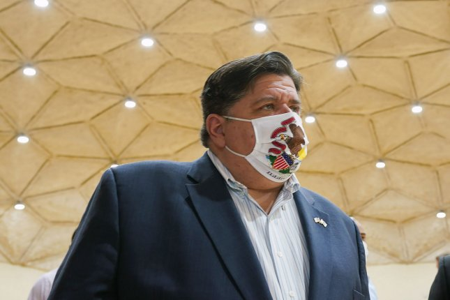 After a weekend that saw the highest one-day spike in national COVID-19 cases since July, Gov. J.B. Pritzker on Monday introduced enhanced restrictions in southeastern Illinois. File Photo by Bill Greenblatt/UPI