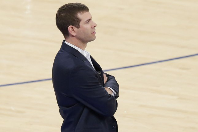 Former Boston Celtics head coach Brad Stevens (pictured) will assume Danny Ainge's role after the team's president of basketball operations announced his retirement Wednesday in Boston. File Photo by John Angelillo/UPI
