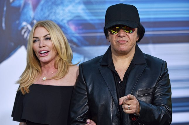(L-R) KISS rocker Gene Simmons and his wife Shannon Tweed attend the premiere of Power Rangers on March 22. Simmons has announced a new solo collection with 150 unreleased recordings titled The Vault. File Photo by Christine Chew/UPI