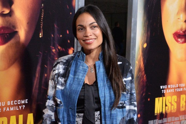 Rosario Dawson voiced her love for Cory Booker following romance reports. File Photo by Jim Ruymen/UPI
