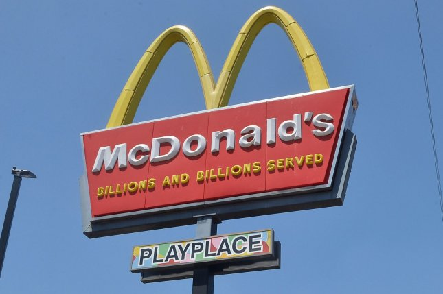 A McDonald's restaurant is seen in Los Angeles, Calif., on Friday. The company has filed a lawsuit against former CEO Steve Easterbrook in a bid to recoup money it paid out when it fired him last year. Photo by Jim Ruymen/UPI