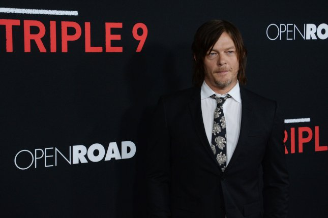 Cast member Norman Reedus attends the premiere of the motion picture crime thriller Triple 9 at Regal L.A. Live in Los Angeles on February 16, 2016. File Photo by Jim Ruymen/UPI Reedus' iconic TV show The Walking Dead got its first Season 7 trailer Friday.