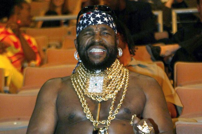 Mr. T at the Antonio Tarver and Roy Jones, Jr., championship fight on May 15, 2004. File Photo by Roger Williams/UPI