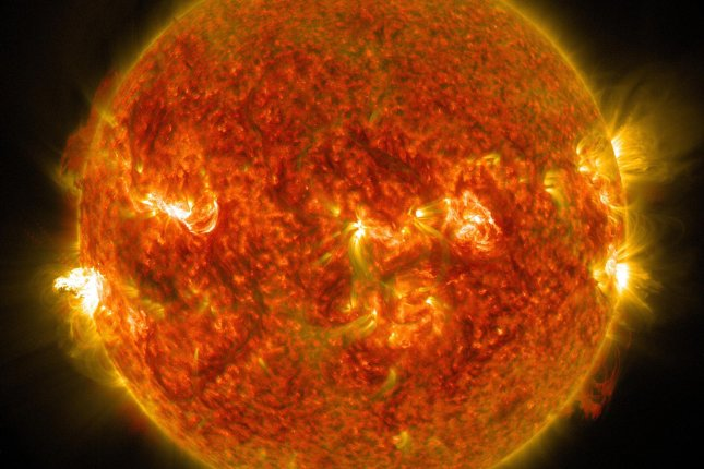 Scientists believe an electromagnetic space shield is the best solution for protecting Earth from dangerous solar storms. Photo by UPI/NASA