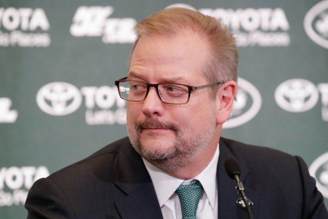 Former New York Jets general manager Mike Maccagnan (pictured) was fired May 15 after a power struggle with new head coach Adam Gase. File Photo by John Angelillo/UPI
