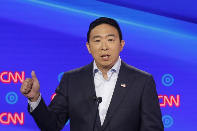 Former presidential candidate Andrew Yang filed paperwork to run for mayor in New York City on Wednesday, according to the city's Campaign Finance Board. File Photo by John Nowak/CNN/UPI