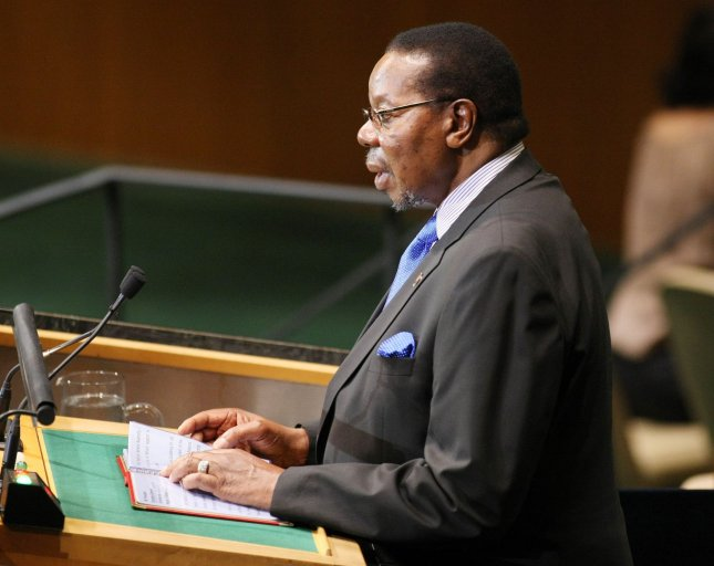 Bingu wa Mutharika speaks at the 65th session of the United Nations General Assembly Sept. 23, 2010. Mutharika, president of Malawi, died April 6, 2012. UPI/Monika Graff