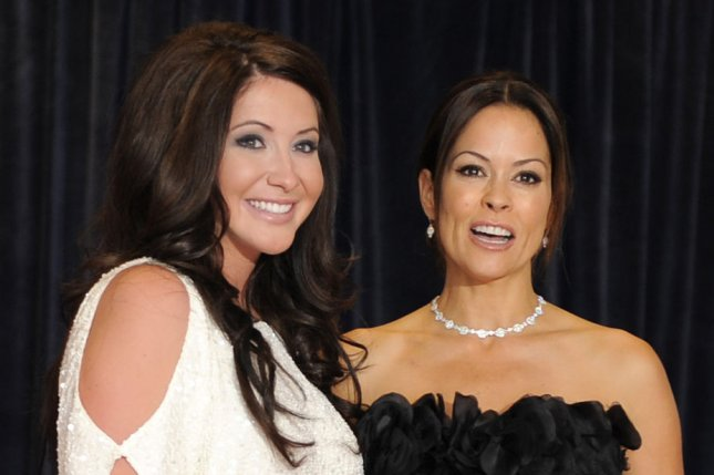 Bristol Palin (L) and Brooke Burke at the White House Correspondents' Association gala on April 30, 2011. The television personality welcomed daughter Sailor on Dec. 23. File Photo by Mike Theiler/UPI