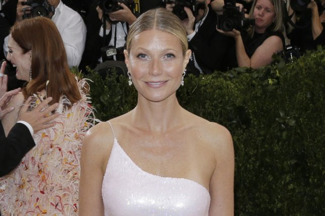 Gwyneth Paltrow shared news of her engagement to Brad Falchuk in the new issue of Goop magazine. File Photo by John Angelillo/UPI