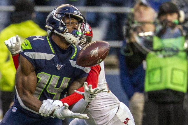 Seattle Seahawks wide receiver D.K. Metcalf should post great fantasy football numbers in Week 3 against the Dallas Cowboys. File Photo by Jim Bryant Photo/UPI