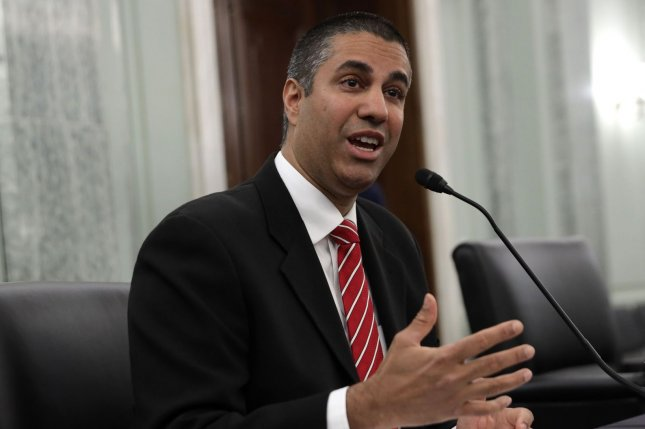 Chairman of Federal Communications Commission Ajit Pai announced Monday he would leave office on Jan. 20. File Photo by Alex Wong/UPI