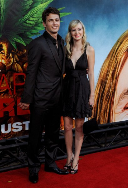 James Franco, a cast member in the motion picture comedy thriller Pineapple Express, and his girlfriend Ahna O'Reilly attend the premiere of the film in Los Angeles on July 31, 2008. (UPI Photo/Jim Ruymen)