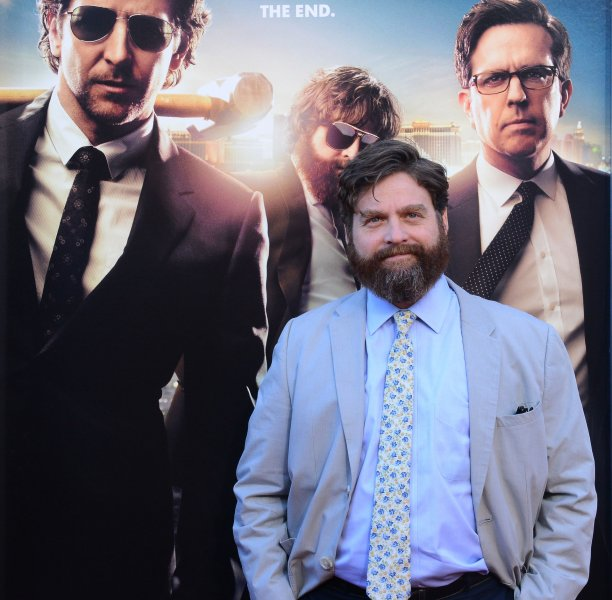 Zach Galifianakis, a cast member in the motion picture comedy The Hangover Part III, attends the premiere of the film at Westwood Village Theatre in the Westwood section of Los Angeles on May 20, 2013. UPI/Jim Ruymen