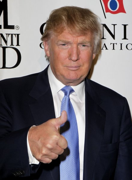 Donald Trump arrives at the 25th Great Sports Legends Dinner to benefit the Buoniconti Fund to Cure Paralysis at the Waldorf Astoria in New York City on September 27, 2010. UPI/John Angelillo