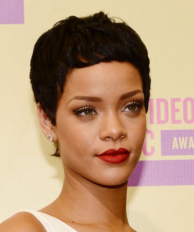 Singer Rihanna arrives for the MTV Video Music Awards at Staples Center in Los Angeles on September 6, 2012. UPI/Jim Ruymen