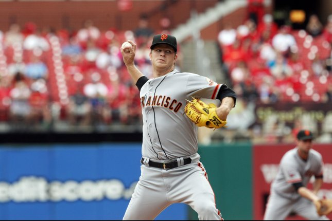 San Francisco Giants starting pitcher Matt Cain. UPI/Bill Greenblatt