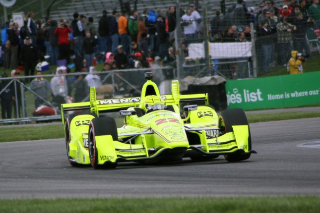 Simon Pagenaud runs away from the field in the latter stages of the 3rd running of the Grand Prix of Indianapolis at the Indianapolis Motor Speedway on May 14, 2016 in Indianapolis, Indiana. File photo by Amy Frederick/UPI