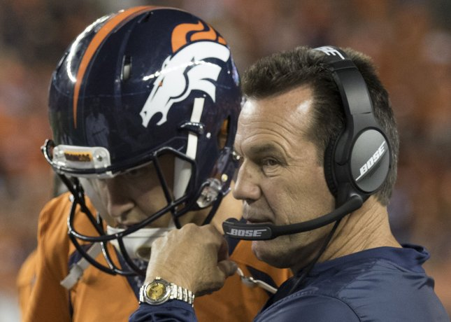 Denver Broncos coach Gary Kubiak and quarterback Trevor Siemian face the Dallas Cowboys in a key Week Two matchup. Photo by Gary C. Caskey/UPI