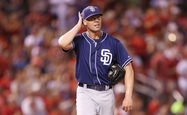 Clayton Richard and the San Diego Padres face off with the Los Angeles Dodgers on Friday. Photo by Bill Greenblatt/UPI