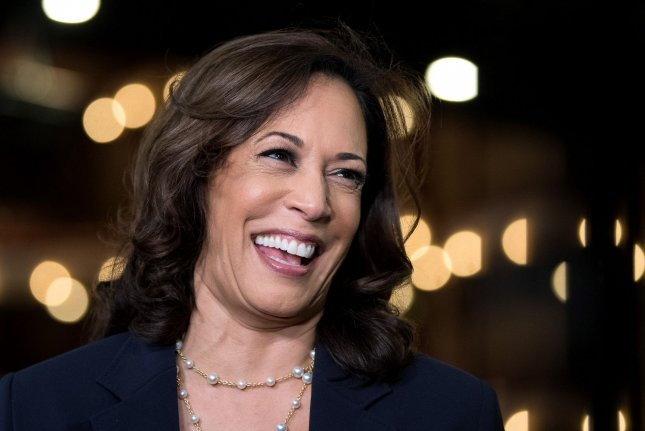 Democratic presidential candidate Joe Biden chose Sen. Kamala Harris, D-Calif., seen in this file photo, as his running mate for the 2020 presidential election. File Photo by Kevin Dietsch/UPI