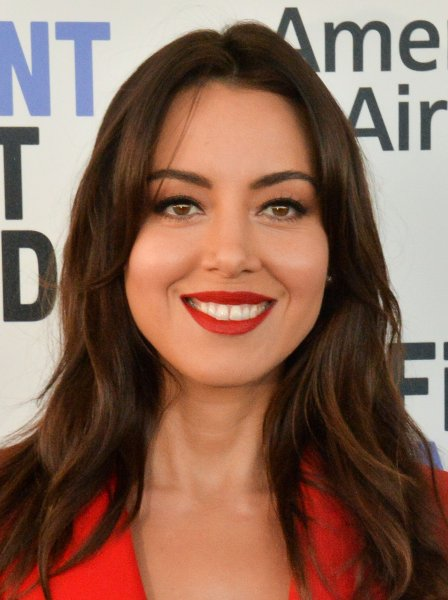 Aubrey Plaza is getting back together with her former Parks and Recreation stars for an online fundraiser Thursday for the Democratic Party of Wisconsin. File Photo Jim Ruymen/UPI